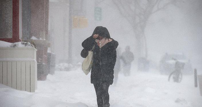 Ola de frío en Nueva York EEUU