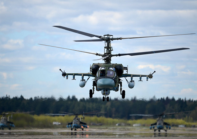 El helicóptero ruso Ka-52 Alligator