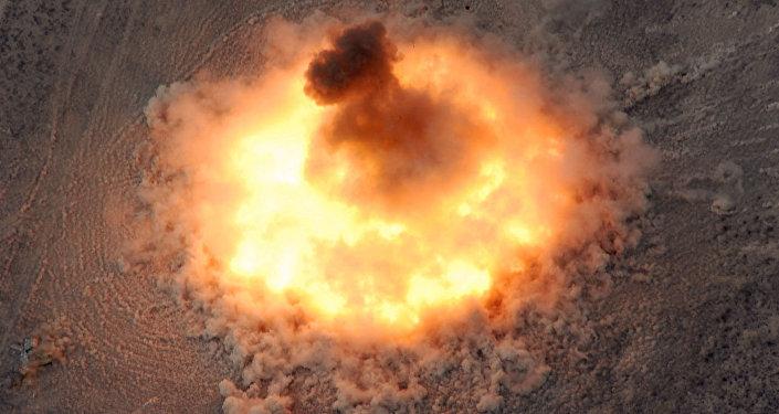 Una explosión, foto referencial