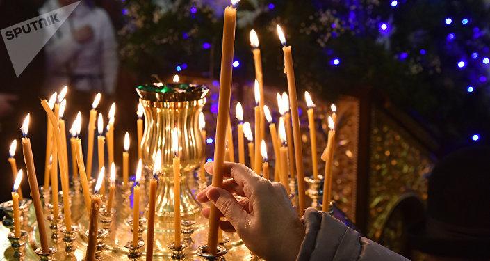 Los cristianos ortodoxos festejan la liturgia