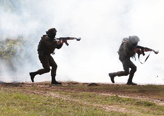 Los militares ucranianos