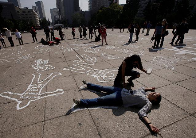 Una protesta contra la violencia y las muertes en México