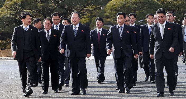 Las delegaciones de las negociaciones entre las dos Coreas