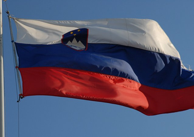 La bandera de Eslovenia