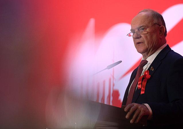 Guenadi Zuigánov, el líder del Partido Comunista de Rusia