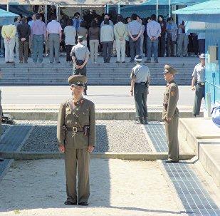 Área de Seguridad Compartida en la zona desmilitarizada de la frontera entre Corea del Norte y del Sur