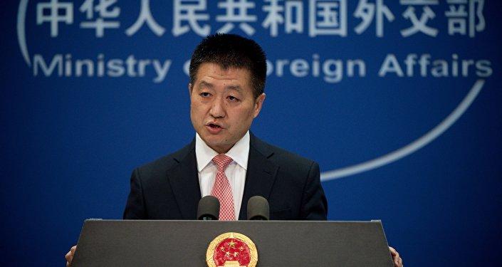 Lu Kang, portavoz del Ministerio chino de Exteriores