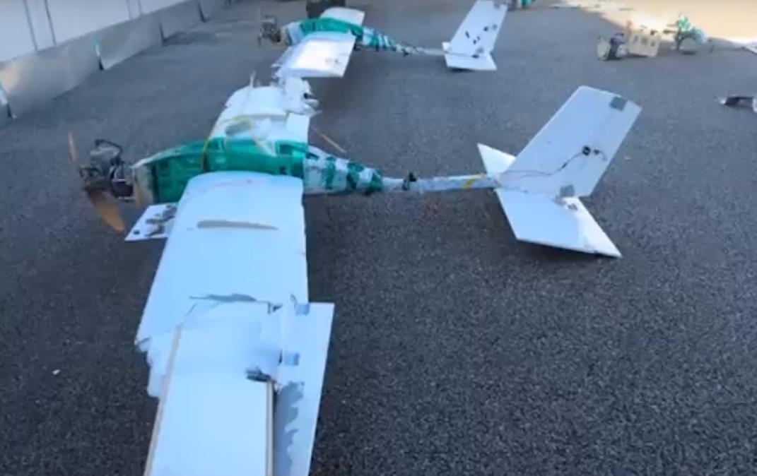 Uno de los drones derribados por las Fuerzas Armadas de Rusia