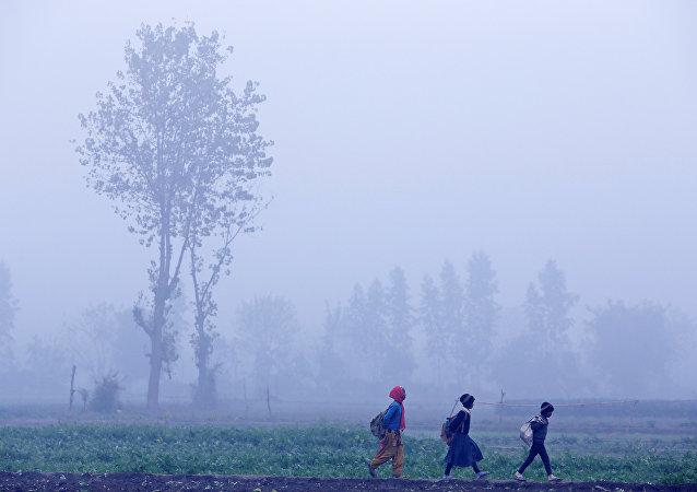 El frío anómalo en la India (imagen referencial)