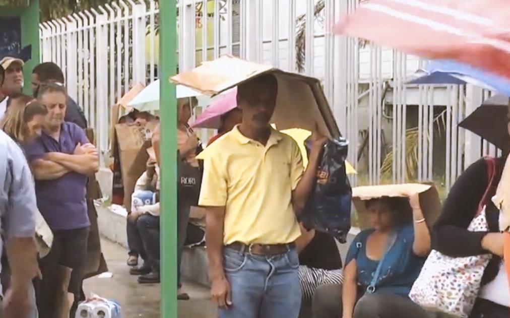 La gente en las calles de Venezuela