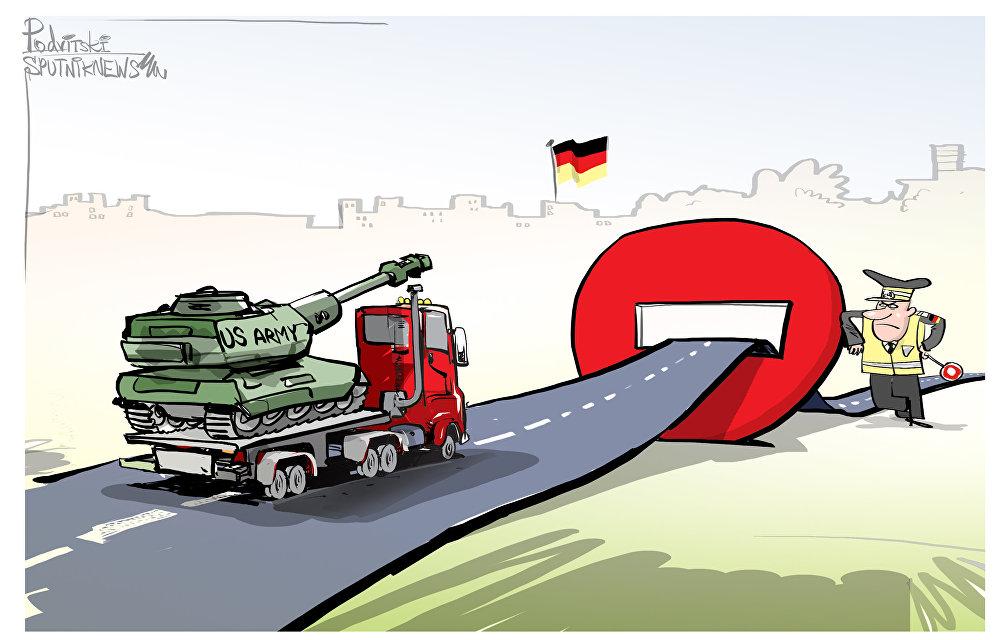 Los tanques estadounidenses se topan con la policía alemana