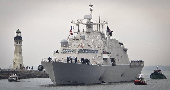 El USS Little Rock, buque de combate litoral de la Armada de EEUU
