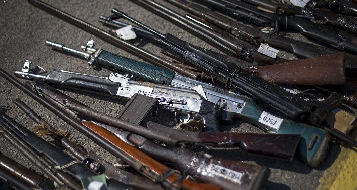 Armas incautadas por las autoridades brasileñas