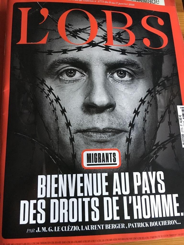 El semanario francés L'Obs bajo el titular 'Bienvenido al país de los derechos humanos'