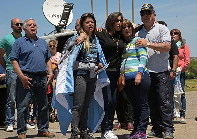 Familiares de los tripulantes del submarino ARA San Juan (archivo)
