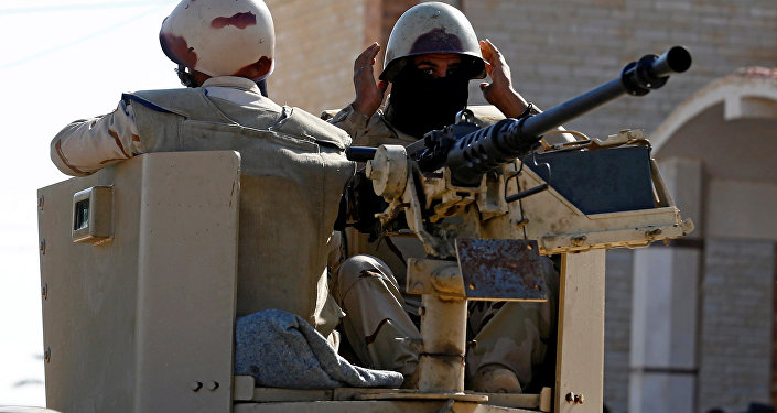 Fuerzas egipcias en el norte de la península de Sinaí