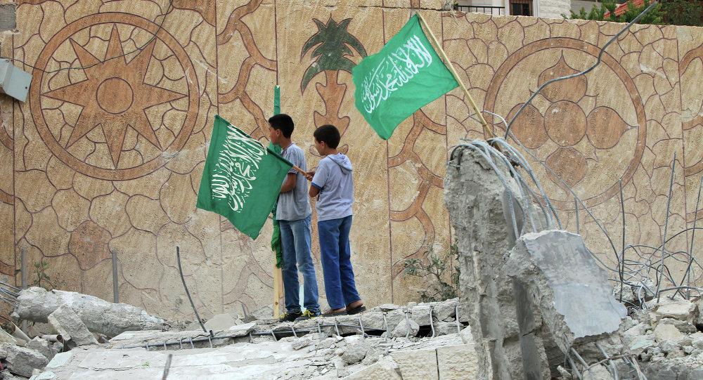 Las banderas de Hamás