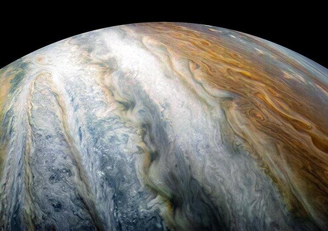 Planeta Júpiter captado por la sonda Juno (archivo)