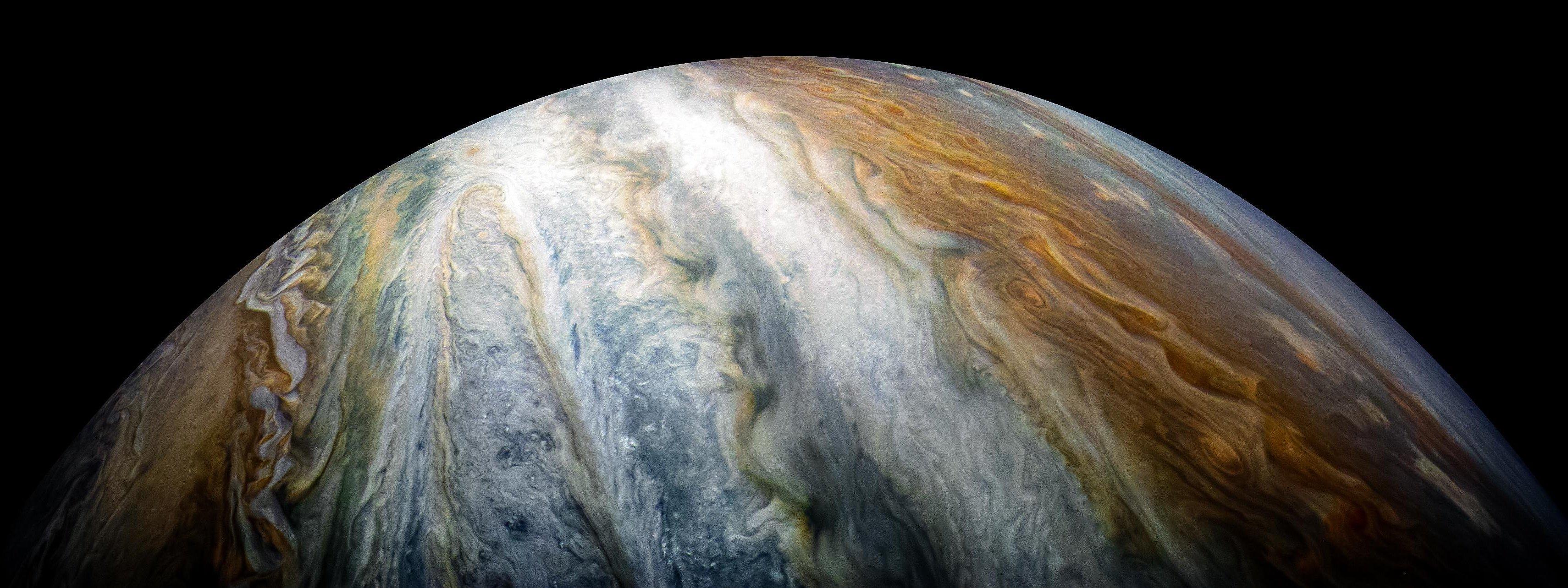 Planeta Júpiter captado por la sonda Juno