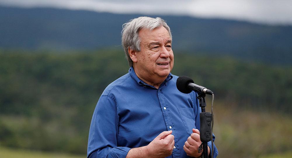 Ya está en Colombia el Secretario General de la ONU