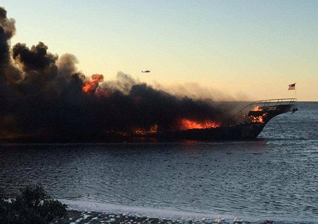 Incendio en casino flotante Sun Cruz