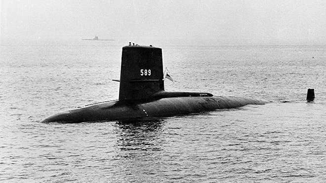 El submarino estadounidense Scorpion SSN-589
