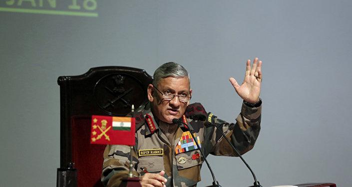 Bipin Rawat, el jefe del Ejército de la India