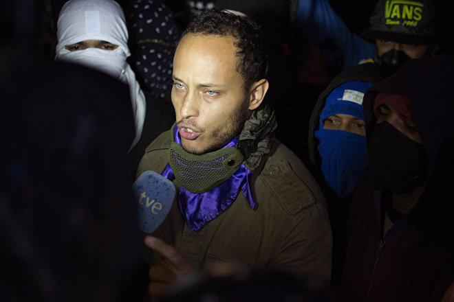 Óscar Pérez aparece en una protesta antigubernamental en Caracas el 13 de julio de 2017