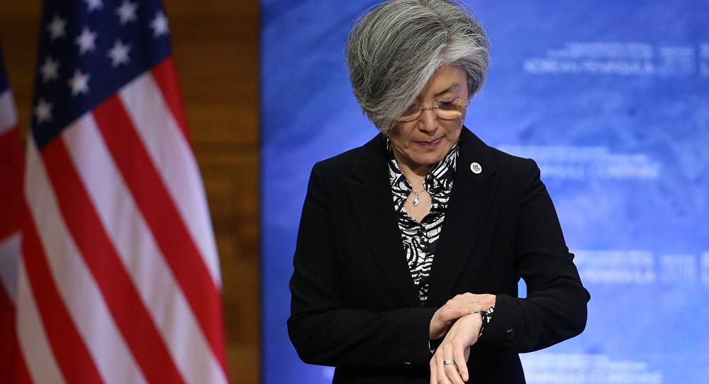 La ministra de Asuntos Exteriores de Corea del Sur, Kang Kyung-wha