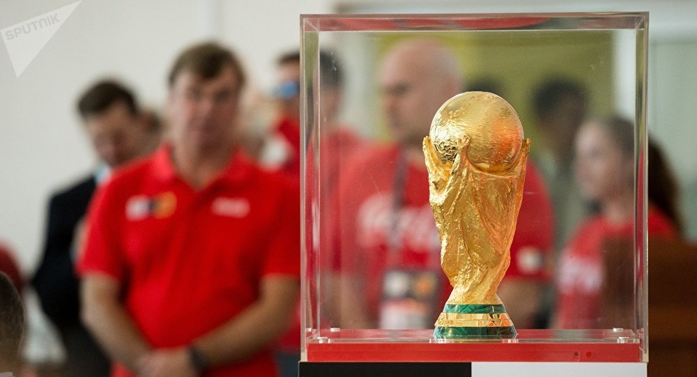 La copa del Mundial de fútbol de 2018