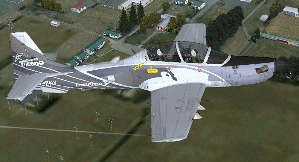 Una aeronave Embraer A-29 Tucano