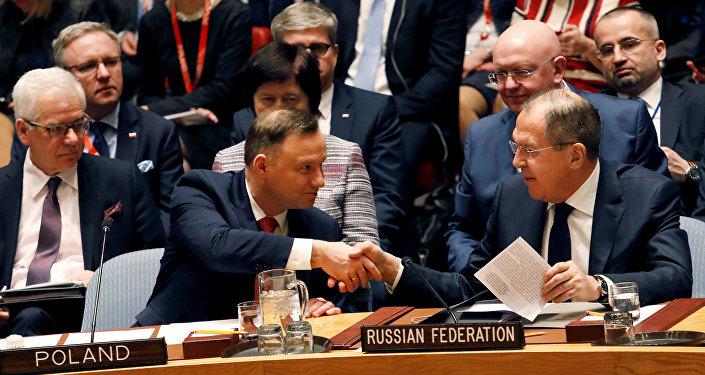 Serguéi Lavrov, el ministro de Asuntos Exteriores de Rusia durante la sesión del Consejo de Seguridad de la ONU sobre el Tratado de No Proliferación Nuclear