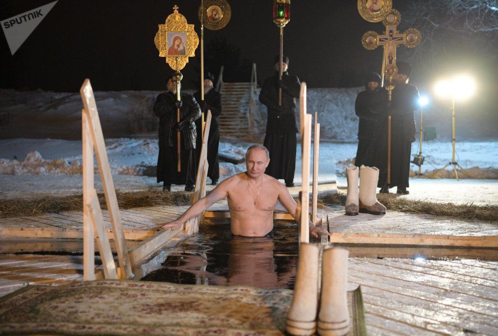 Vladímir Putin festeja La Epifanía