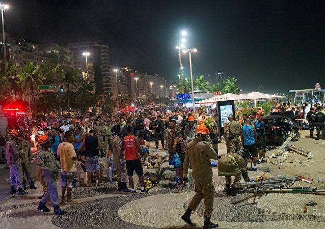 Accidente de tráfico en Rio de Janeiro, Brasil