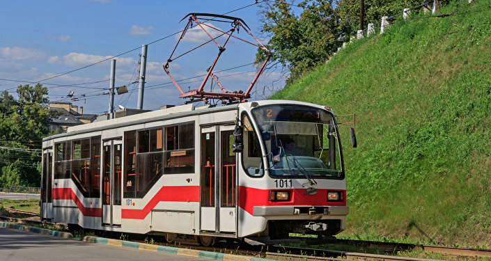 Tranvía 71−407 en Nizhni Nóvgorod