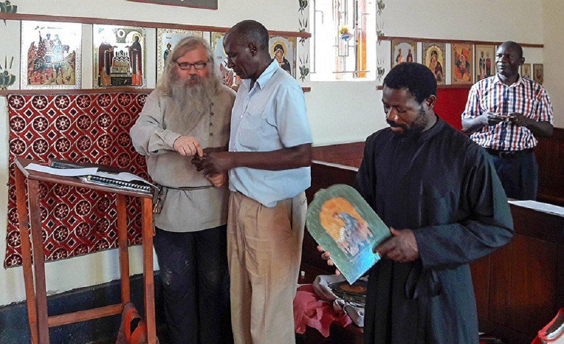 Nikola Bobkov, jefe de la misión de la Iglesia ortodoxa rusa de viejos creyentes (RPSC) en Uganda