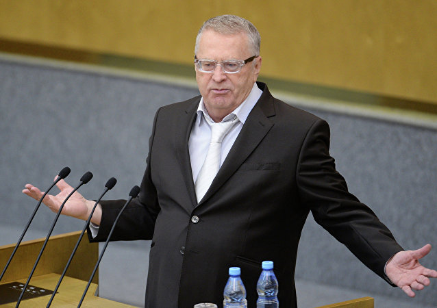 Vladímir Zhirinovski, el líder del Partido Liberal-Demócrata de Rusia y el candidato a la presidencia rusa