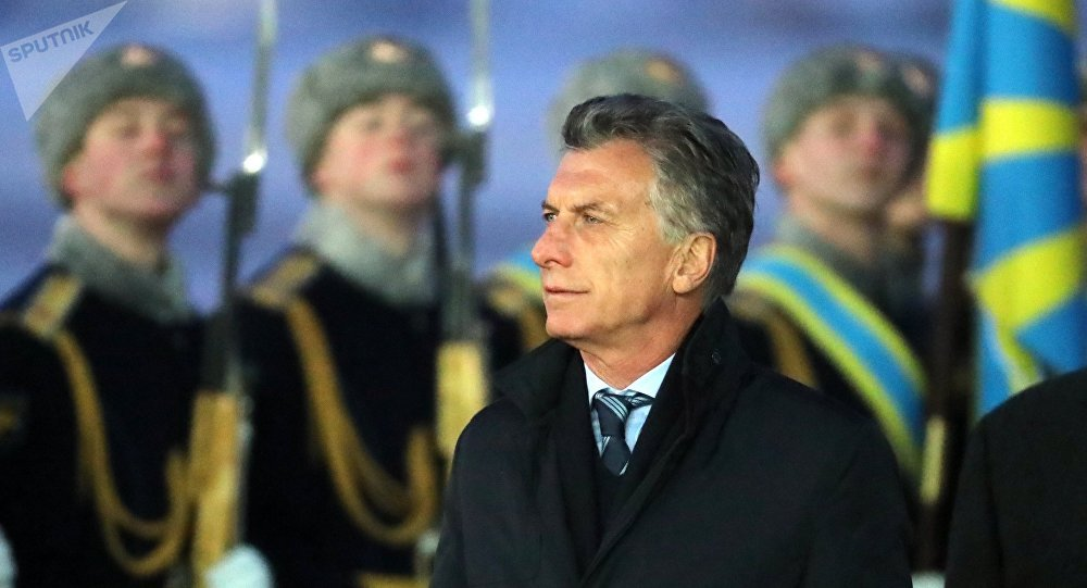 Mauricio Macri, presidente de Argentina, durante su visita a Rusia