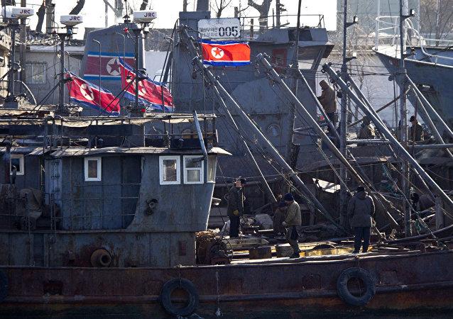 Barcos norcoreanos (archivo)