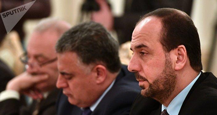 Naser Hariri, el líder de la opositora Comisión Siria