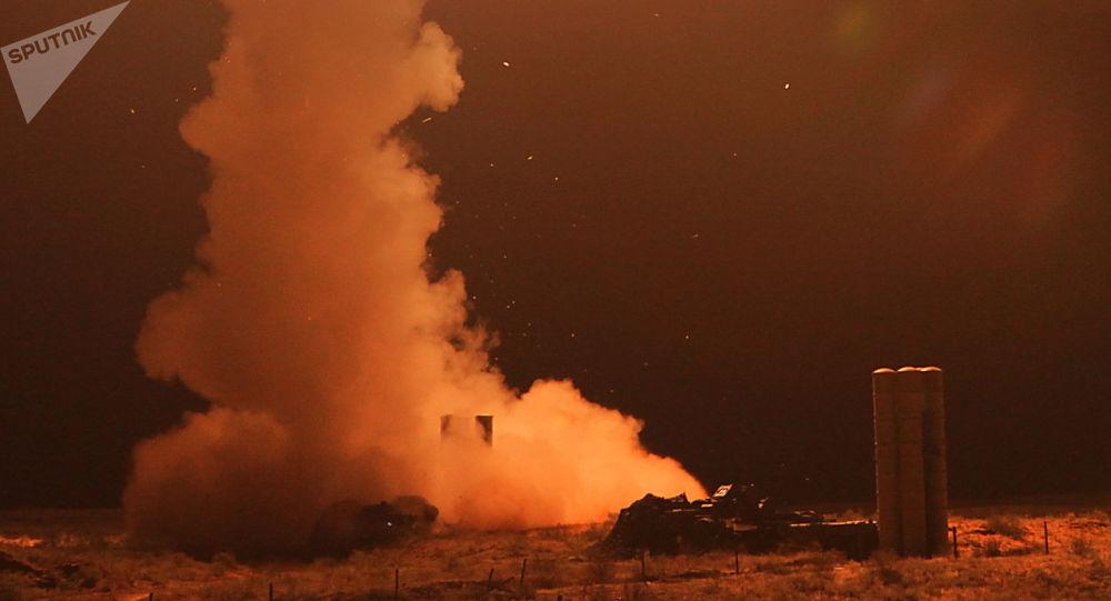 Un lanzamiento de un misil antiaéreo ruso (imagen referencial)
