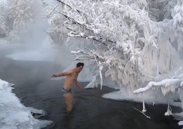 ¿Te apetece un chapuzón a –50°C?