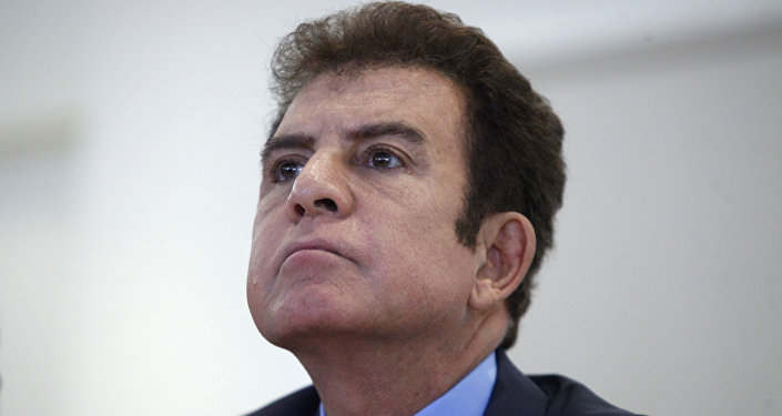 Salvador Nasralla, el excandidato presidencial y líder de la Alianza de Oposición de Honduras (archivo)