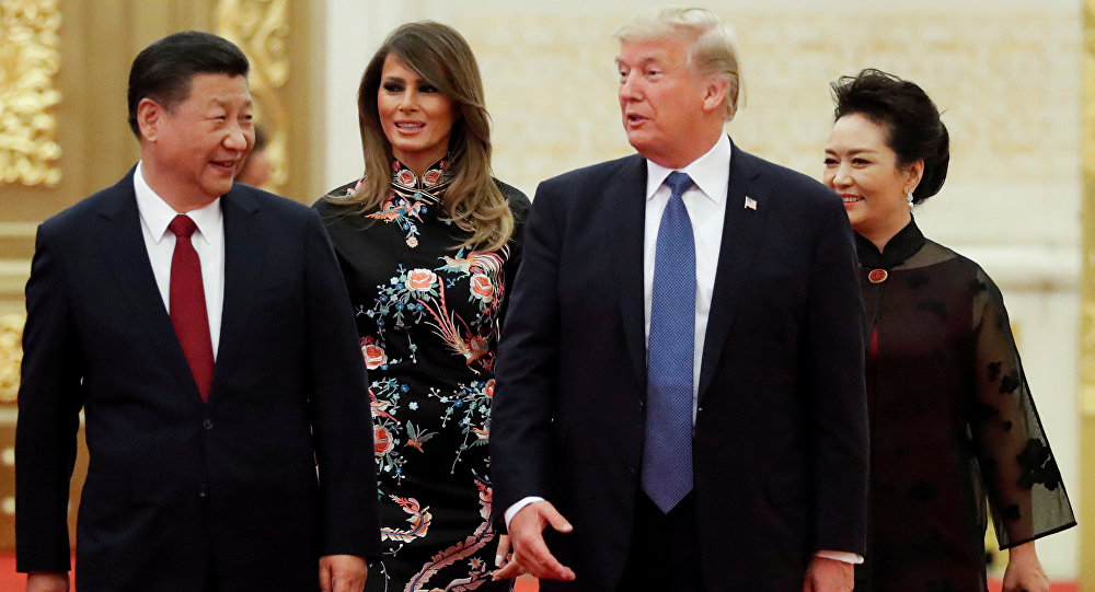 El presidente de China,  Xi Jinping, y el presidente de EEUU, Donald Trump