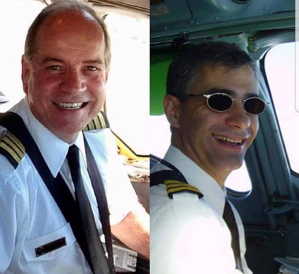 Los pilotos venezolanos asesinados durante el ataque al Hotel Intercontinental de Kabul, Afganistán (izda. Adelsis Ramos, dcha. Pablo Chiossone)