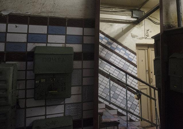 Las escaleras de un edificio en Moscú, imagen referencial