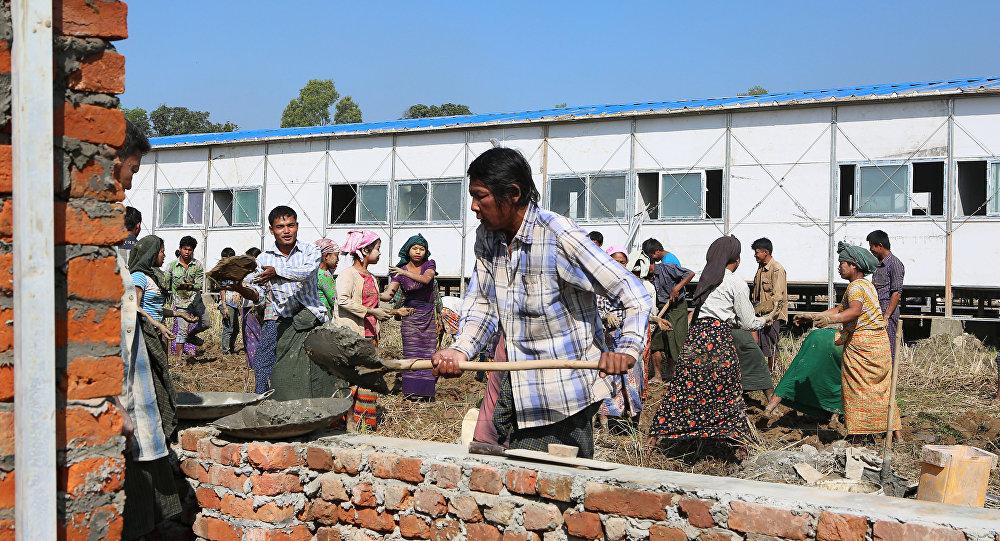 La situación en un campo de refugiados rohinyás en Birmania