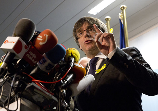 Carles Puigdemont, el expresidente del gobierno de Cataluña