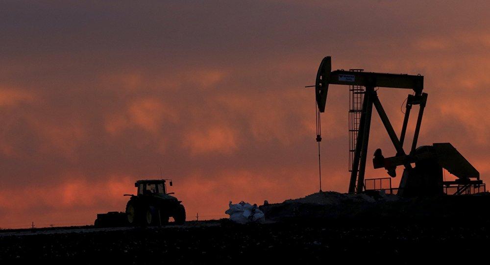 Una instalación para extracción de petróleo en Texas, EEUU