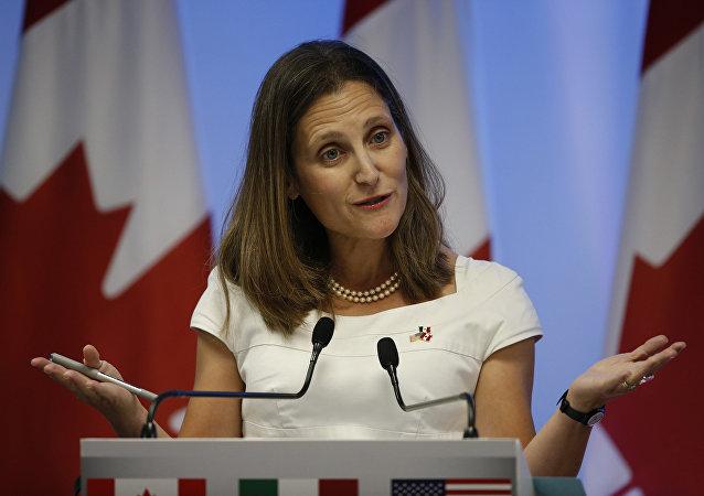 Chrystia Freeland, la ministra de Relaciones Exteriores de Canadá